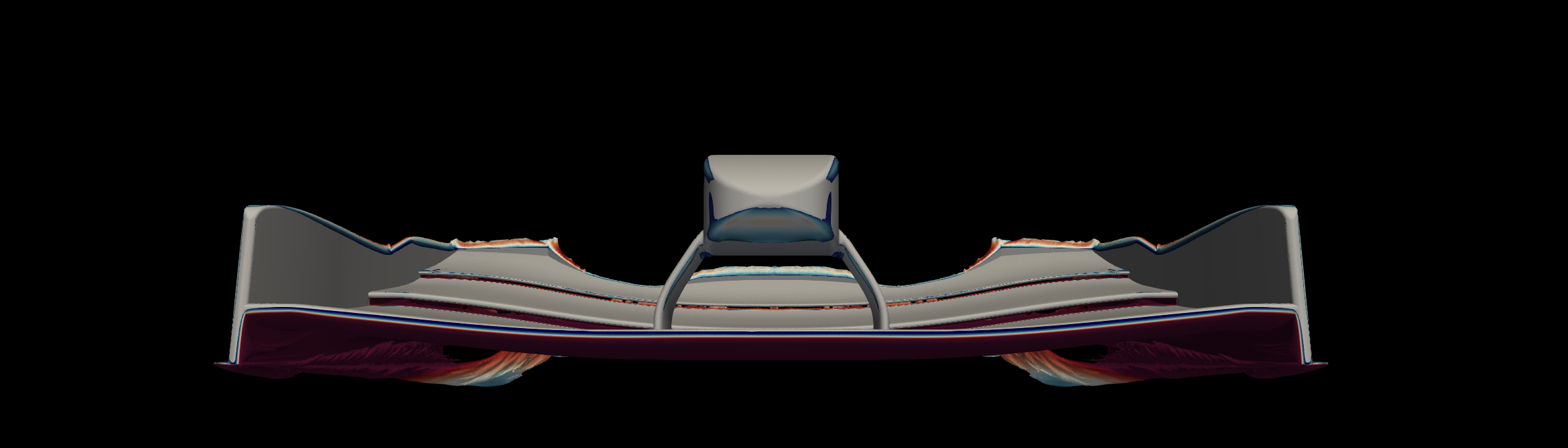 Formula One front wing simulation with Nektar++