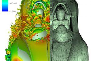 Industry-relevant implicit LES via spectral/hp element methods